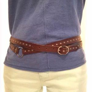 Silpada genuine leather studded double belt
